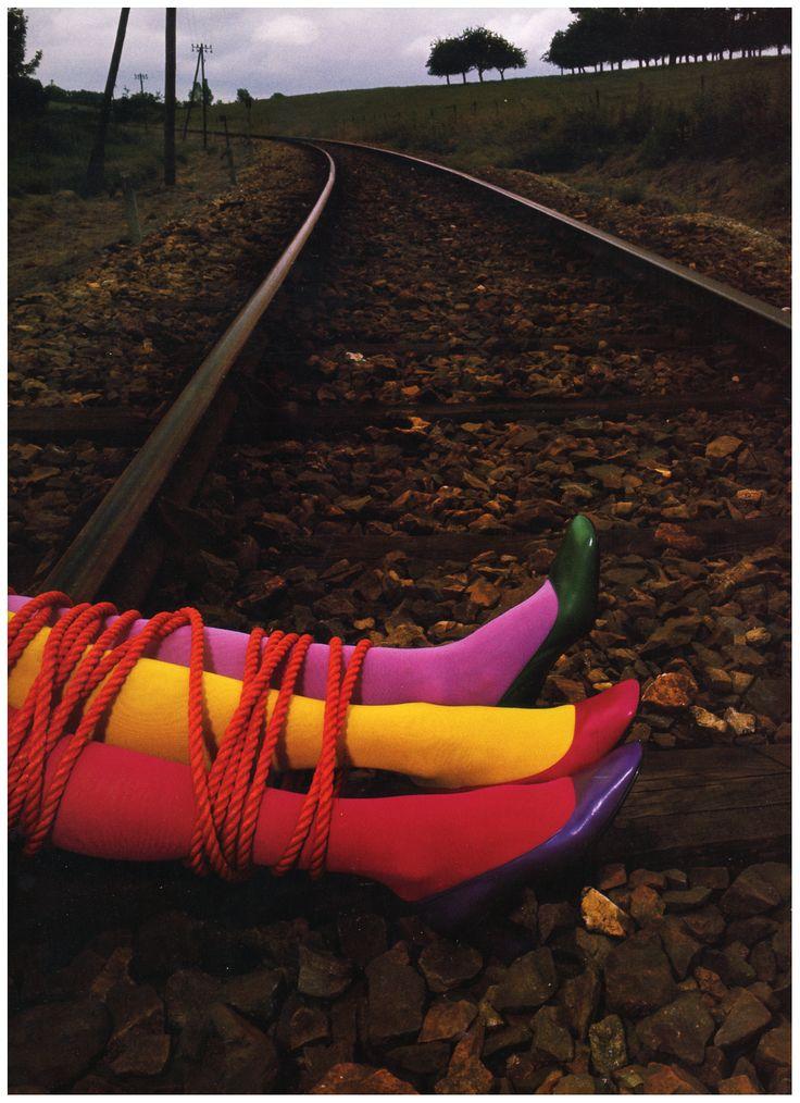 Photo Guy Bourdin Charles Jourdan Autumn 1970 – three color