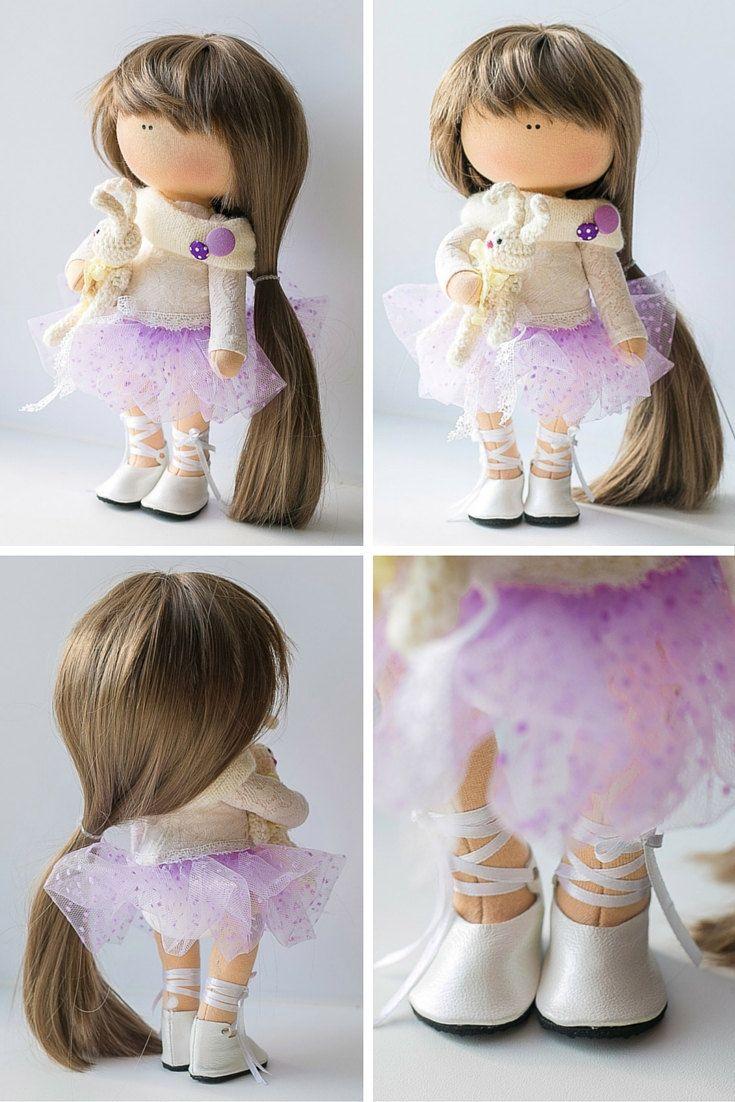 Decor doll Tilda doll Art doll handmade brown by AnnKirillartPlace