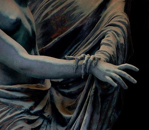 Tumblr.    lesodeurs:  Death and the Maiden sculpture (detail), Celle family monument, Staglieno Cemetery, Genoa, by Guilio Monteverde.