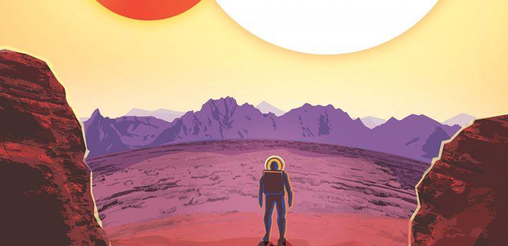 НАСА опубликовало винтажные туристические плакаты для недавно открытых планет. |