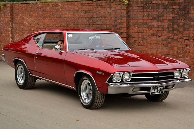 1969 Chevrolet Chevelle - I had one in bright metalllic blue!  That was MY baby!