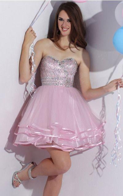 Organza Sweetheart Natural Ball Gown Short Bridesmaid Dresses 0190390