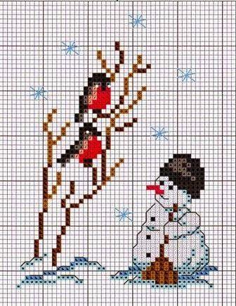 Bordado em ponto cruz para o Natal