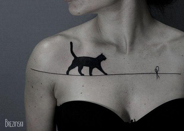 As tatuagens surreais em blackwork cheias de pontilhismo do russo Ilya Brezinski - Follow the Colours