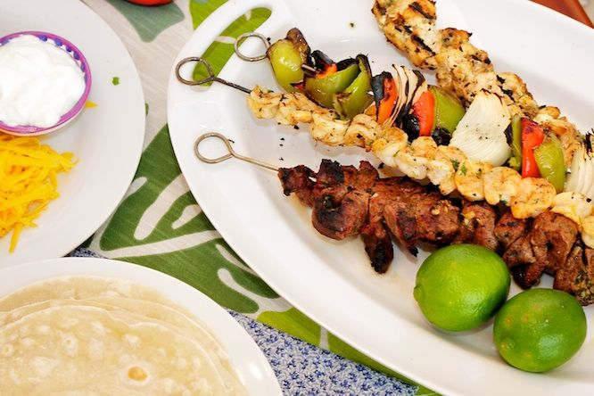 Grilled Fajitas -- on a stick! from Our Family Eats | Recipes ...