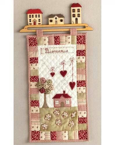 House quilt wall hanging