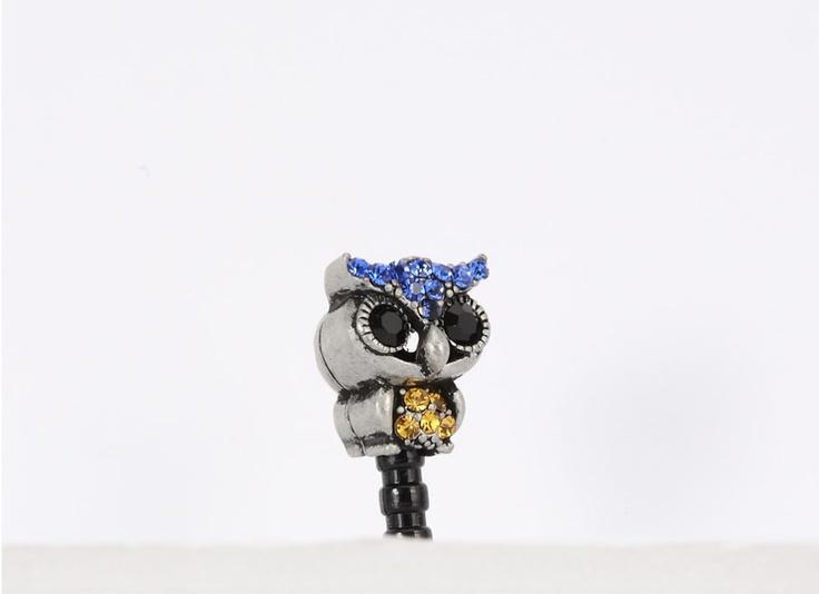 Metalic Owl Phone Ear Cap. Price $19.99  /  아이언부엉이 폰캡