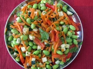 Asian Edamame salad: The corner bakery copycat
