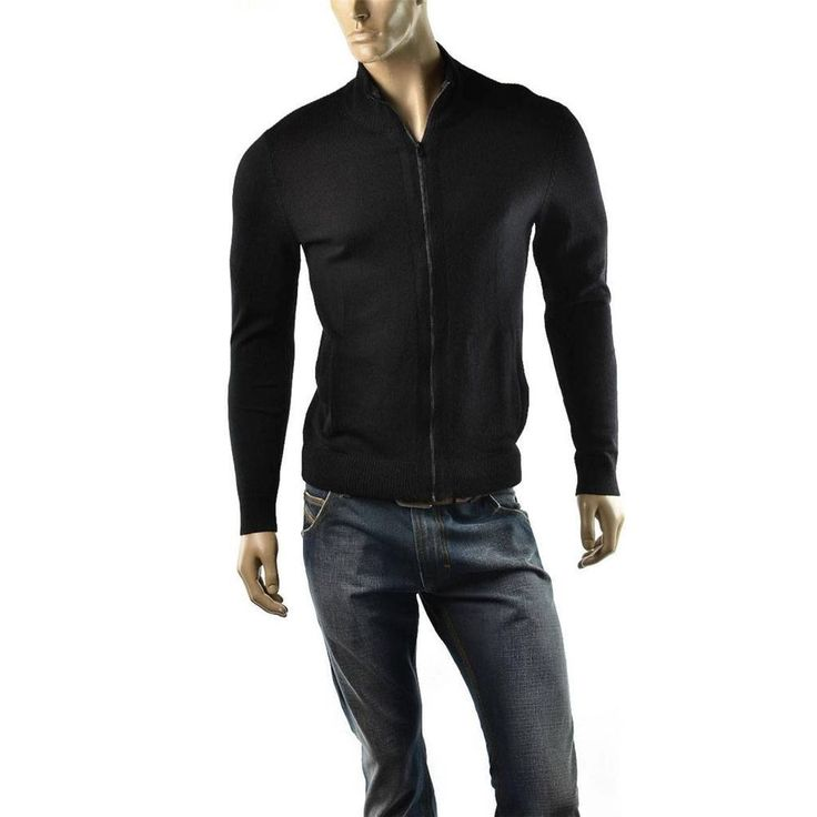 Calvin Klein Sweater Jacket Mens Cardigan Shirt Size M Jumper Black $98 NEW | Get Dressed at ImageStudio714.com stores.ebay.com/...