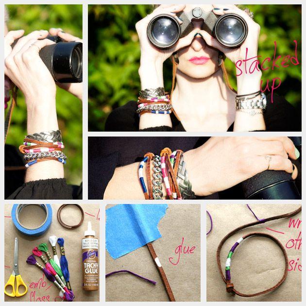 DIY Leather Friendship Bracelets
