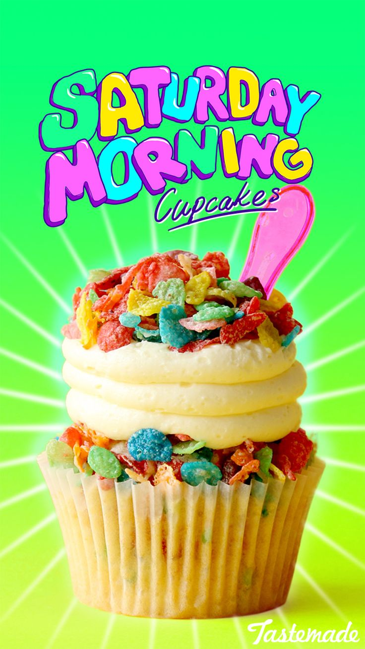 Saturday morning just got that much sweeter with this Fruity Pebbles-infused cupcake.