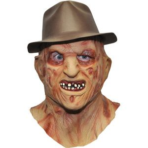 Freddy Krueger Adult Halloween Mask and Hat Accessory