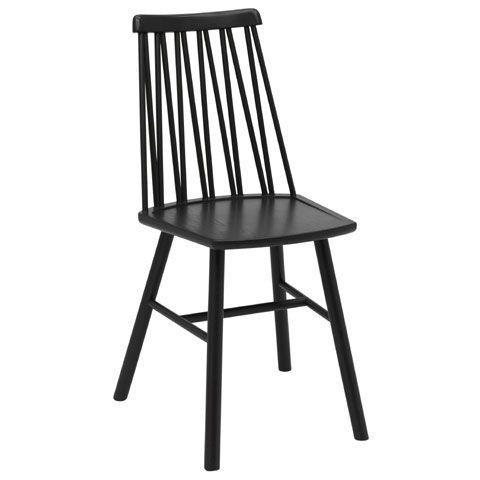 ZigZag stol ask svart