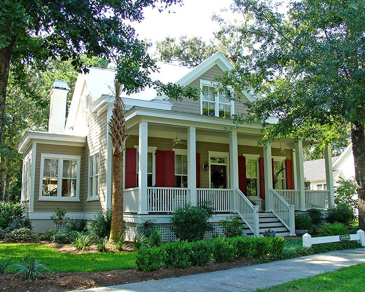 Inspired by the architecture found in historic towns for Southern low country home plans