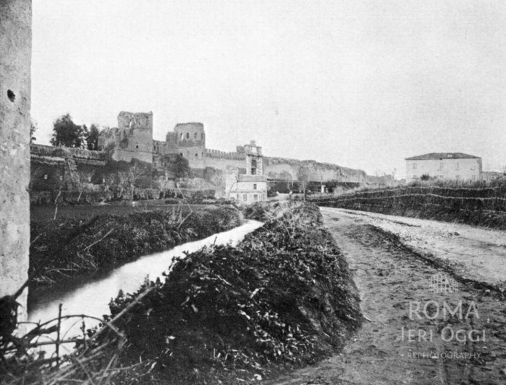 Via Sannio (Ettore Roesler Franz, 1868)   Roma Ieri Oggi