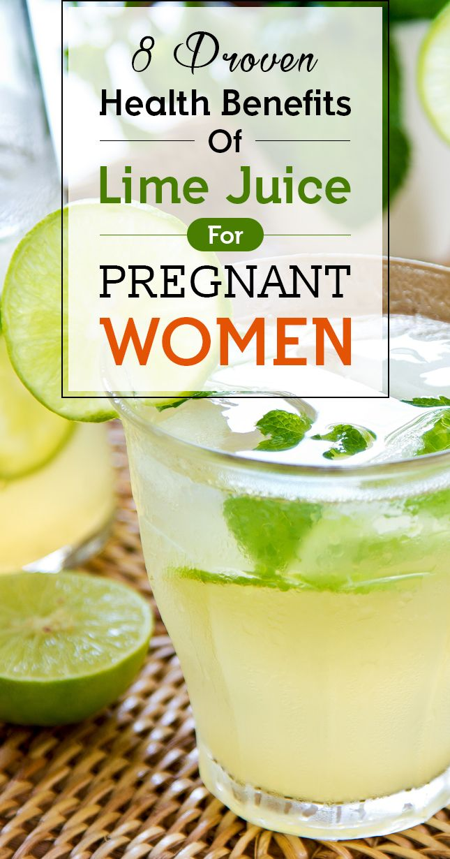 8 Proven Health Benefits Of Lime Juice For Pregnant Women ...
