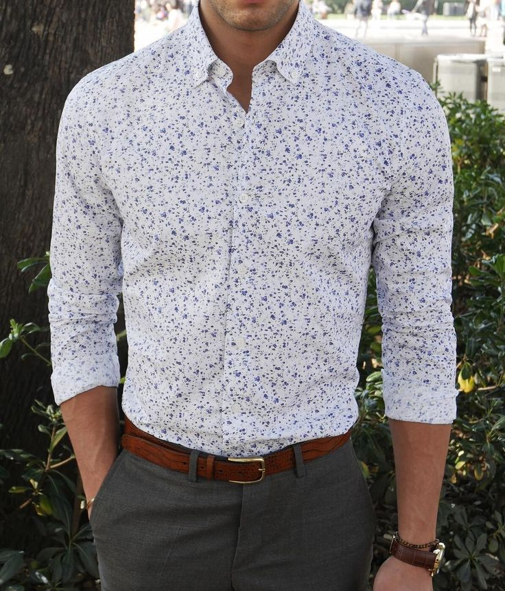 Greet spring in style with the Cardiff button-down shirt.   www.Grandfrank.com