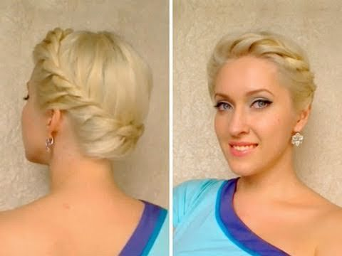 """In this braided summer hair tutorial inspried by the latest hair trends I'll show you how to do a cute and easy updo hairstyle perfect for hot summer days. This """"healthy"""" Greek or Roman goddess updo is done without heat or teasing and is..."""