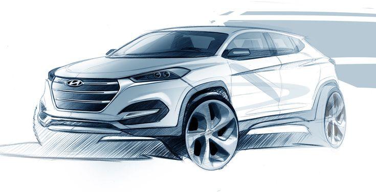 Hyundai Tucson - Design Sketch