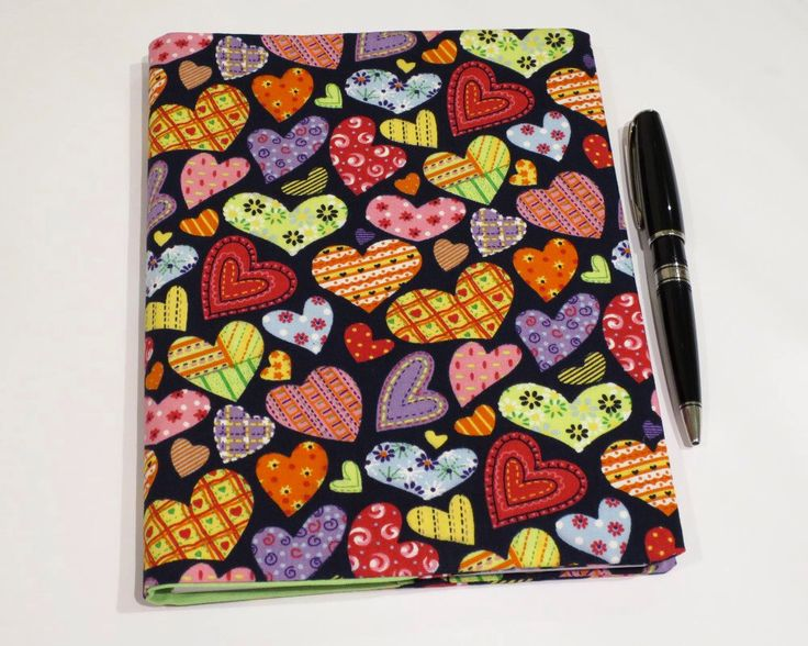 Fabric Book Cover, Suits A5 Notebook, Bonus Notebook Included, Heart Cotton Fabric, Great Gift for any Female, Valentine's Day Gift Idea by JadoreBooks on Etsy https://www.etsy.com/listing/262460829/fabric-book-cover-suits-a5-notebook