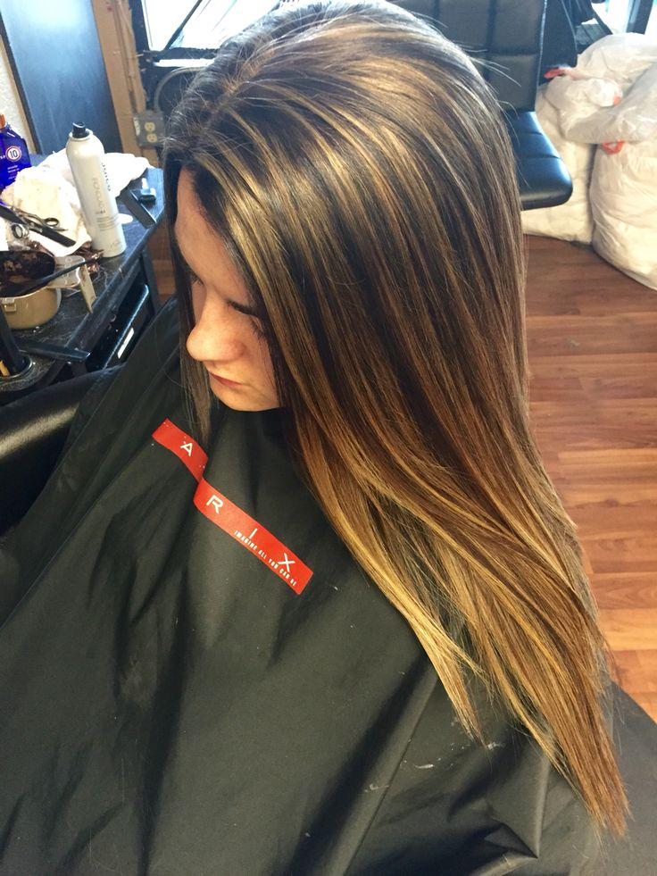 Golden Beige Blonde Highlights With A Golden Brown Base