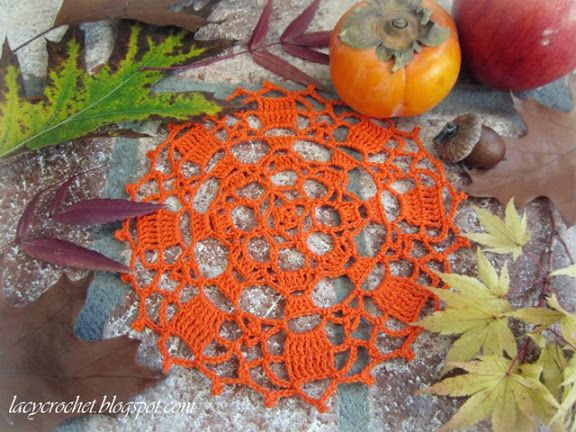 Autumn Doily from Lacy Crochet