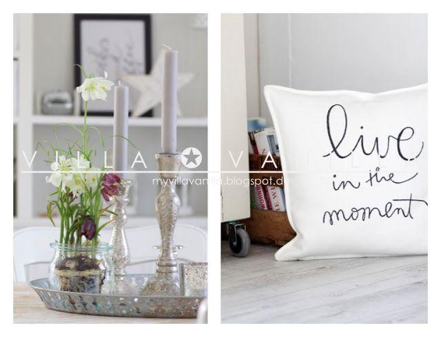 Villa ✪ Vanilla Me gusta almohadon con frase!