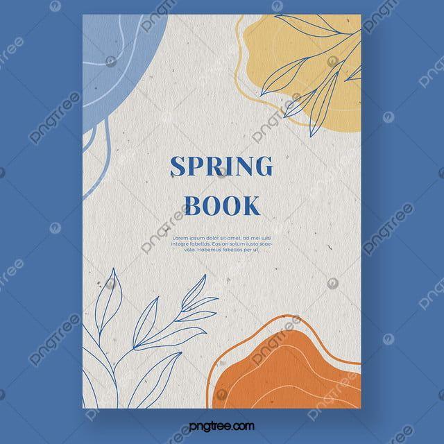 عنصر الربيع مجردة تصميم غلاف كتاب هندسي Illustration Art Drawing Spring Books Book Cover Design