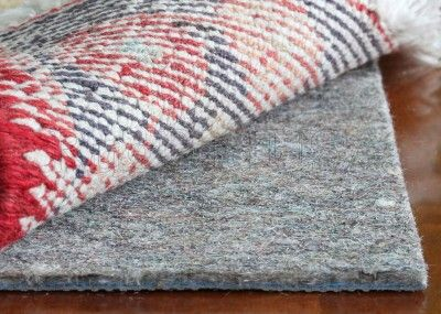 The lamest pin ever: Premium-Lock Felt Rubber Rug Pads (cushy, helps rugs stay in place, eco friendly!)