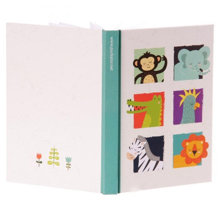Zápisník s tvrdými deskami a motivem zvířátek ze ZOO, formát A6 #zapisnik #zviratka #zoo #notebook #giftware