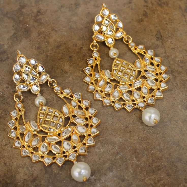 NORA CHAND MUGHAL EARRINGS @ Indiatrend For $41.99USD Wirh Free Shiping World Wide