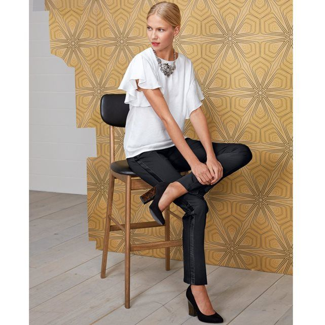 Blusa com folhos, Laura Clément LAURA CLEMENT