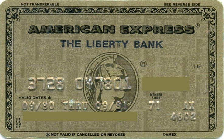 American Express Gold Liberty Bank (American Express, United States of America) Col:US-AE-0088