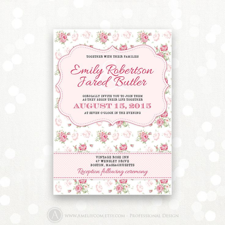 12 best Wedding Invitations images on Pinterest | Printable wedding ...