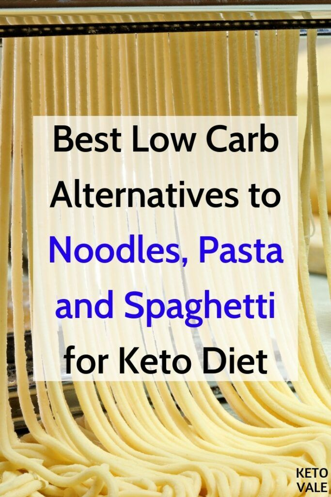 substitute for pasta low carb diet