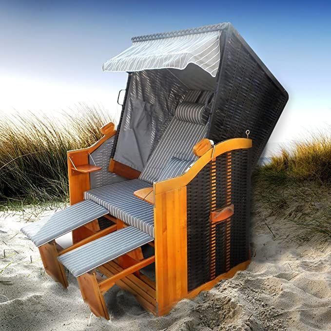 Strandkorb Premium Volllieger Ostsee Gartenliege Sonneninsel Poly Rattan Xxl Amazon De Kuche Haushalt In 2021 Strandkorb Anthrazit Grau Korb