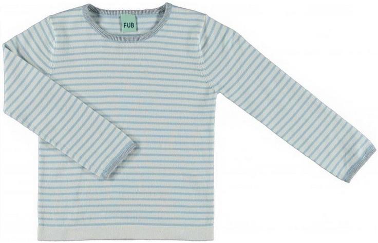 FUB - Genser Striped Ecru/sea green