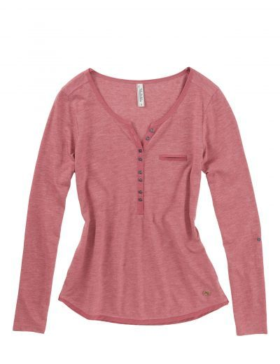 Jeans-Fritz - Slub-Longsleeve mit Knopfleiste: Category: Damen > Oberteile > T-Shirts & Tops > Kurzarm Item number: 0094652096…%#Mode%