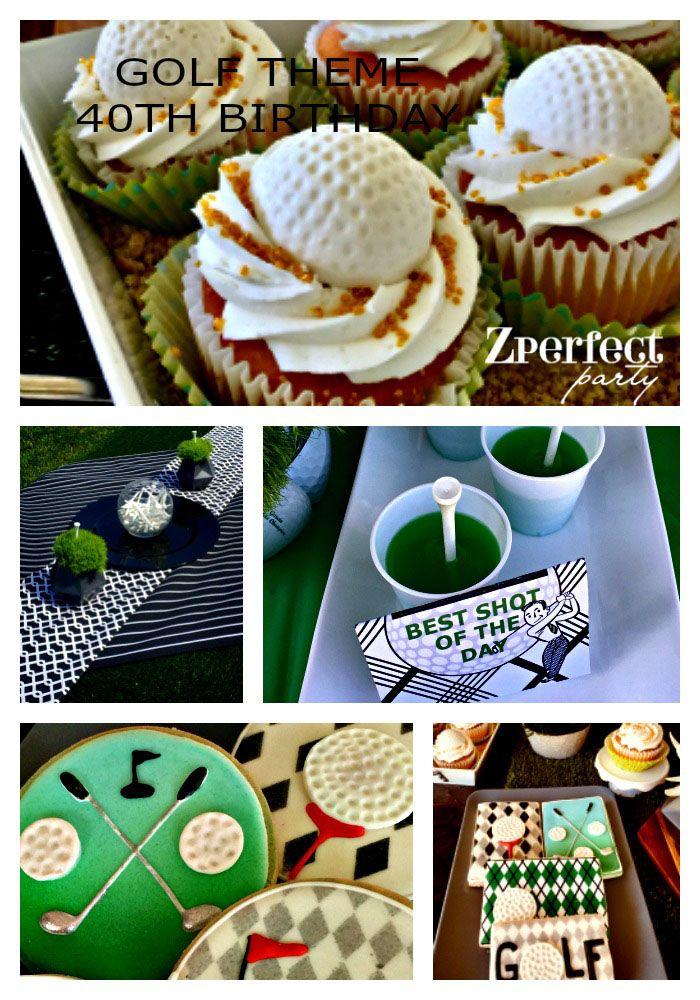 Excellent Golf Theme Birthday Party 40Th Birthday Ideas Golf Dessert Home Interior And Landscaping Pimpapssignezvosmurscom