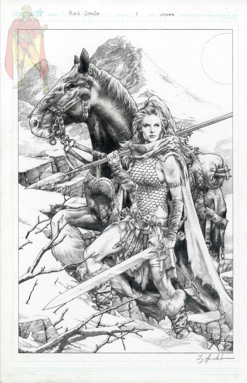 Red Sonja questão uma tampa variante por Jay Anacleto Art Comic