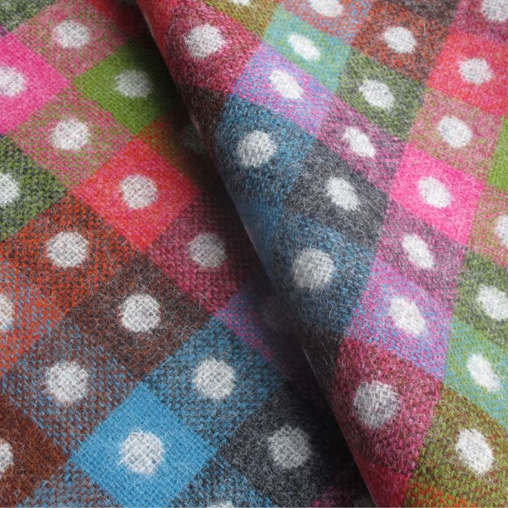 Tartan Plaid Grey And Multicoloured Wool Curtain and Upholstery Fabric | Camden Gris Check from Loome Fabrics