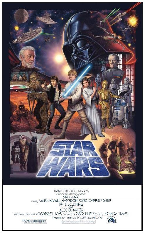Star Wars movie art posters