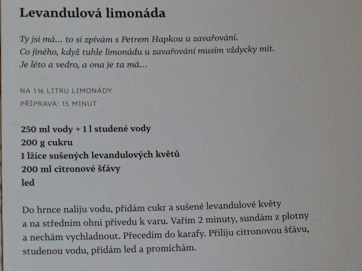 Ze života jedné hrnčířky....: Levandulová limonáda....