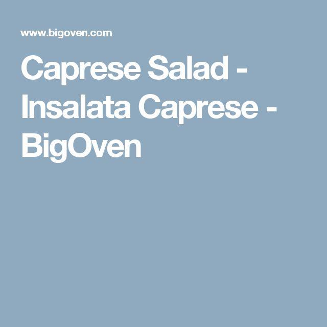 Caprese Salad - Insalata Caprese - BigOven