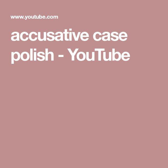 accusative case polish - YouTube