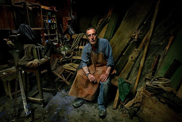 Environmental Portraits ~ The background tells a story about the subject. Love this!