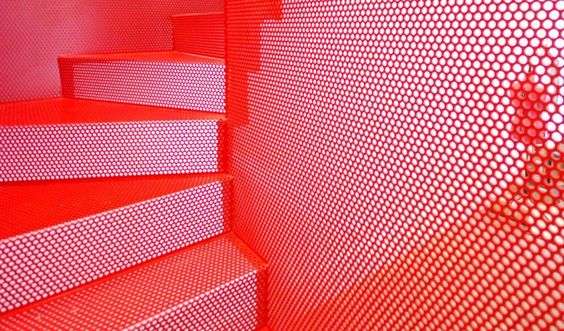 PERFORATED METAL (outtake) - Staircase design by Diapo
