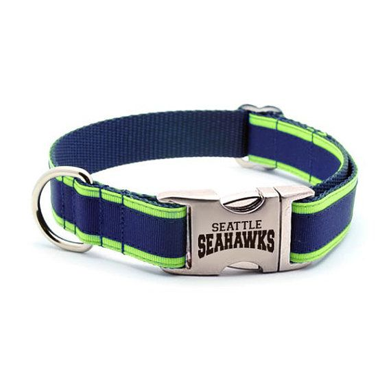 Personalized Seahawks Dog Collar