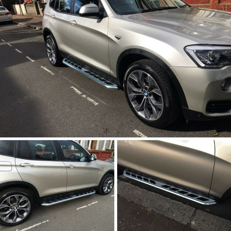Angel chose our 'Monsoon' steps for her BMW X3 F25. These are really unique and give the X3 a cool finish. Another happy customer :-) #BMW #X3 #F25 #SideSteps #RunningBoards #HappyCustomers #GreatFeedback