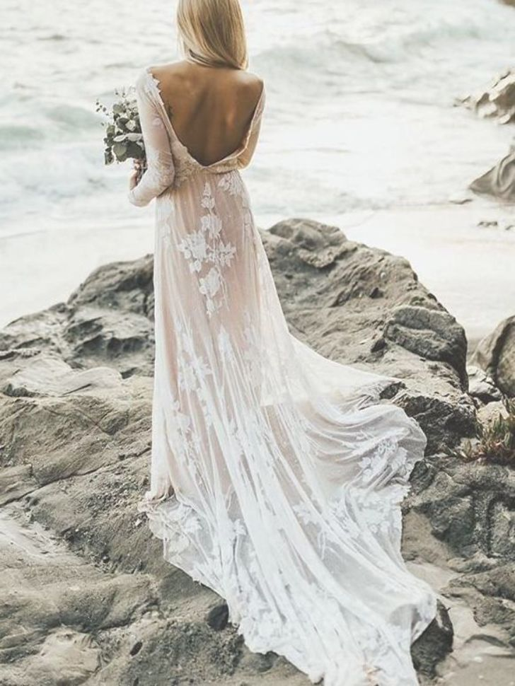 Boho Casual Beach Wedding Dresses